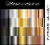 metallic  gradient collection... | Shutterstock .eps vector #631362644