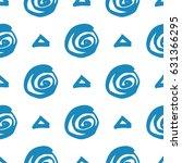seamless hand drawn pattern   Shutterstock .eps vector #631366295