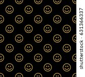 smile line icon pattern | Shutterstock .eps vector #631366337