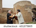 musicians playing  saz or... | Shutterstock . vector #631375805