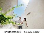 happy couple bride and groom in ... | Shutterstock . vector #631376309