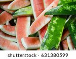 Small photo of Watermelons rind flesh was eaten out.