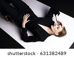 high fashion portrait of young... | Shutterstock . vector #631382489