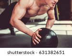handsome young muscular... | Shutterstock . vector #631382651