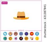 man summer hat icon | Shutterstock .eps vector #631387841