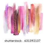 abstract watercolor brush... | Shutterstock . vector #631392137