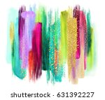 abstract watercolor brush... | Shutterstock . vector #631392227