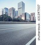 empty asphalt road of a modern... | Shutterstock . vector #631397537