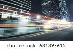 the traffic light trails of city | Shutterstock . vector #631397615
