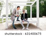 outdoor men's fashion | Shutterstock . vector #631400675