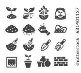 soil icons | Shutterstock .eps vector #631401137