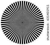 circular pattern of radial ... | Shutterstock .eps vector #631401911
