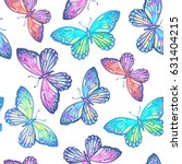 seamless pattern of colorful... | Shutterstock .eps vector #631404215
