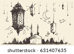 ramadan celebration vintage... | Shutterstock .eps vector #631407635
