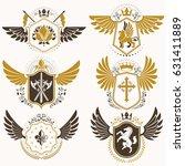 vintage heraldry design... | Shutterstock .eps vector #631411889