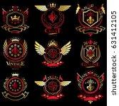 vector classy heraldic coat of... | Shutterstock .eps vector #631412105