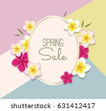 spring sale vector illustration ... | Shutterstock .eps vector #631412417