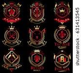 vector classy heraldic coat of... | Shutterstock .eps vector #631413545