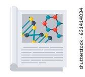 scientific journal  vector... | Shutterstock .eps vector #631414034