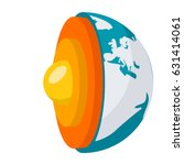 geophysics concept with earth... | Shutterstock .eps vector #631414061