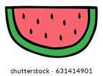 watermelon slice vector... | Shutterstock .eps vector #631414901