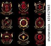 vector classy heraldic coat of... | Shutterstock .eps vector #631417865