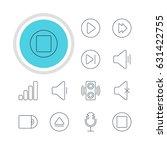 vector illustration of 12 music ... | Shutterstock .eps vector #631422755