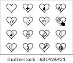 vector medical icon set.... | Shutterstock .eps vector #631426421