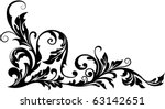 Stock vector vector floral ornament 63142651