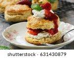 homemade strawberry shortcake   ... | Shutterstock . vector #631430879