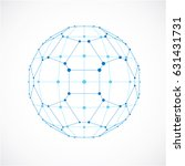 abstract 3d faceted figure with ... | Shutterstock .eps vector #631431731