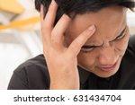 sick dizzy business man with...   Shutterstock . vector #631434704