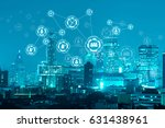 people network connection on... | Shutterstock . vector #631438961