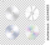 isolated cd disk on... | Shutterstock .eps vector #631444055