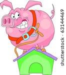 pig   a watchman | Shutterstock .eps vector #63144469