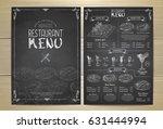 chalk drawing restaurant menu... | Shutterstock .eps vector #631444994
