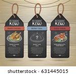chalk drawing restaurant label... | Shutterstock .eps vector #631445015