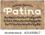 vintage font with textured... | Shutterstock .eps vector #631450817