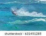 kite surfing kite kite surfing... | Shutterstock . vector #631451285