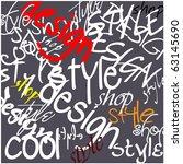 art graffiti vector background | Shutterstock .eps vector #63145690