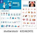 big set icons medical and... | Shutterstock .eps vector #631462451