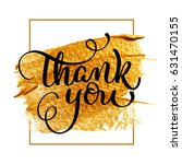 thank you day text on acrylic... | Shutterstock .eps vector #631470155