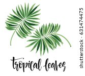vector tropical leaves  jungle... | Shutterstock .eps vector #631474475