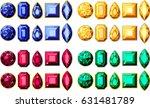 set of jewellery gems realistic ... | Shutterstock .eps vector #631481789