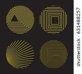 spirograph style decorative... | Shutterstock .eps vector #631488257