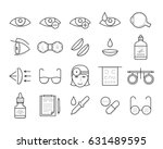 ophthalmology icons in thin... | Shutterstock .eps vector #631489595