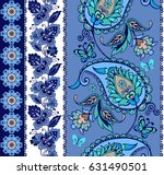 set of oriental borders with... | Shutterstock .eps vector #631490501