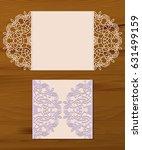 stencil template of mandala... | Shutterstock .eps vector #631499159