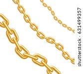 golden chains. different size... | Shutterstock .eps vector #631499357