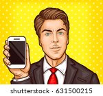 vector pop art illustration of... | Shutterstock .eps vector #631500215